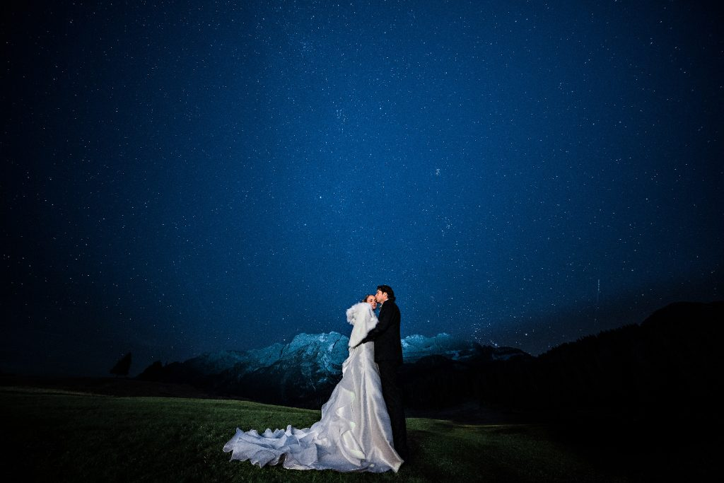 starry night wedding matrimonio cielo stellato stelle star landscape dolomites dolomiti
