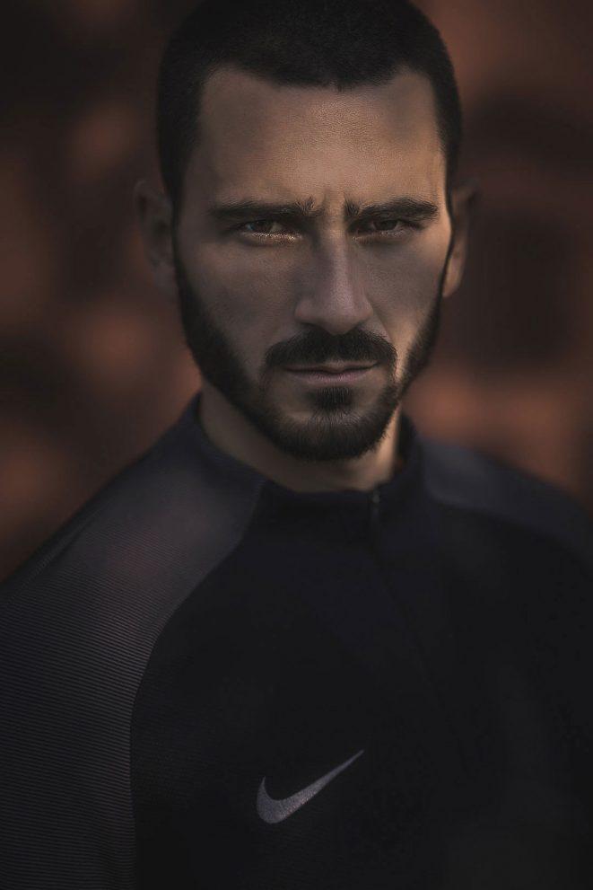 leonardo bonucci portrait ritratto juventus nike football alberto feltrin